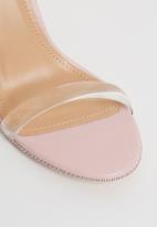 Miss Black - Rowan ankle strap heels - pink
