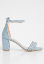 Miss Black - Shylie ankle strap heels - blue