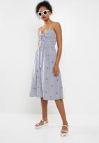 ONLY - Dinna knot dress -blue