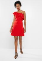 ONLY - Dory lace dress - red