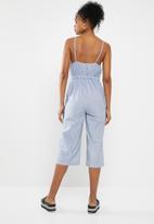 ONLY - Juliet frill jumpsuit - blue