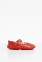 POP CANDY - Scallop edge Mary Jane pump - red