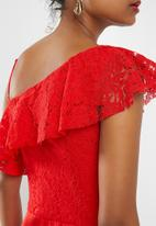 ONLY - Joelene lace jumpsuit - red