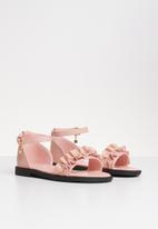 POP CANDY - Frill sandal mid - pink