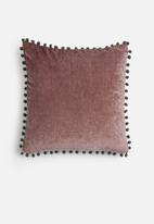 Sixth Floor - Chenille pom pom cushion cover - purple