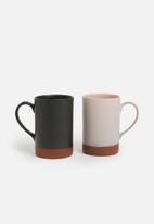 Urchin Art - Element mug set of 2 - black/pink