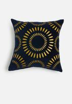 Sixth Floor - Shine velvet cushion cover - dark navy / gold