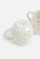 Urchin Art - Confetti bubble mug set of 2 - multi