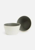 Urchin Art - Heath snack bowl set of 2 - matte charcoal
