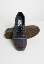 Vans - Authentic - tartan black / gum