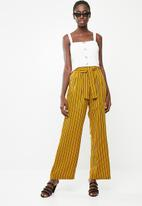 Superbalist - Wide leg pant - mustard