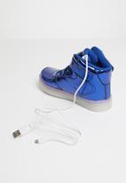 POP CANDY - High top light up sneaker - blue