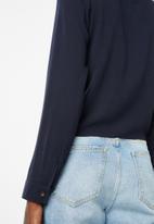 Superbalist - Tie front shirt - navy