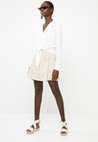Superbalist - Tie front shirt - white
