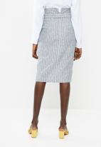 Superbalist - Spliced midi pencil skirt - blue stripe