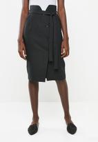 Superbalist - Spliced midi pencil skirt - black
