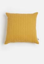 Sixth Floor - Waffle cushion cover - mustard