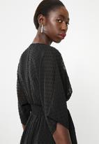 Superbalist - Short V'neck cover up - black