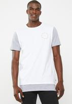 St Goliath - Back page tee - white & grey