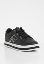 Miss Black - Amina lace up sneakers - black