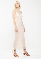 Missguided - Slinky strap detail maxi dress - pink