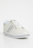 Miss Black - Amina lace up sneakers - white