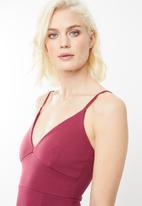 Missguided - Scuba maxi dress - burgundy