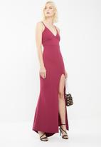 Missguided - Scuba maxi dress - burgundy