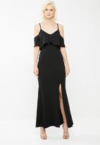 Missguided - Strappy frill fishtail dress - black