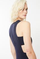 Missguided - Sleeveless cut out side midi dress - navy