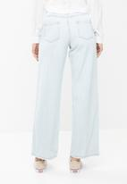 Missguided - High rise full length wide leg jean- blue
