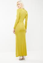 Missguided - Slinky cut out maxi dress - yellow