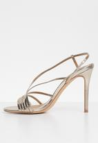 Missguided - Asymmetric multi strap heel sandal - gold