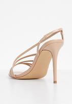 Missguided - Asymmetric multi strap heel sandal - neutral
