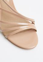 Missguided - Asymmetric multi strap heel sandal - neutral