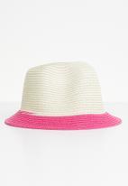 POP CANDY - Straw hat - cream