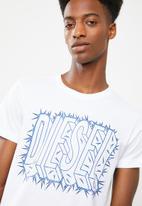Diesel  - Diego logo T-shirt - white