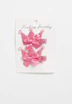 POP CANDY - Crown detailed hair clips - pink