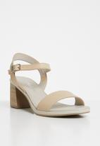 Phelan - Ankle strap leather heels - neutral