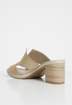 Phelan - Strappy leather mules - gold