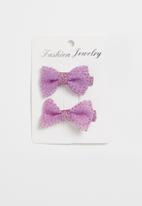 POP CANDY - Bow detailed hairclips - purple