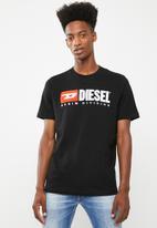 Diesel  - T-Just division crew short sleeve T-shirt - black