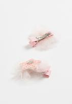 POP CANDY - Heart detailed hair clip - pink