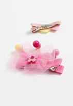 POP CANDY - Glitter detailed hair clip - pink