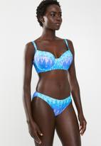 Jacqueline - Zig zag bikini bottoms - blue