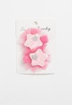 POP CANDY - Glitter star hair clip - pink