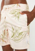 Bellfield - Leaf print swimshorts - neutral