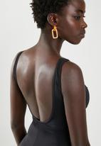 Jacqueline - Dart one piece - black