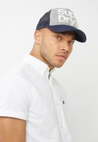 Superdry. - Lineman cap - grey & navy