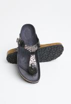 Birkenstock - Gizeh narrow - metallic stones black